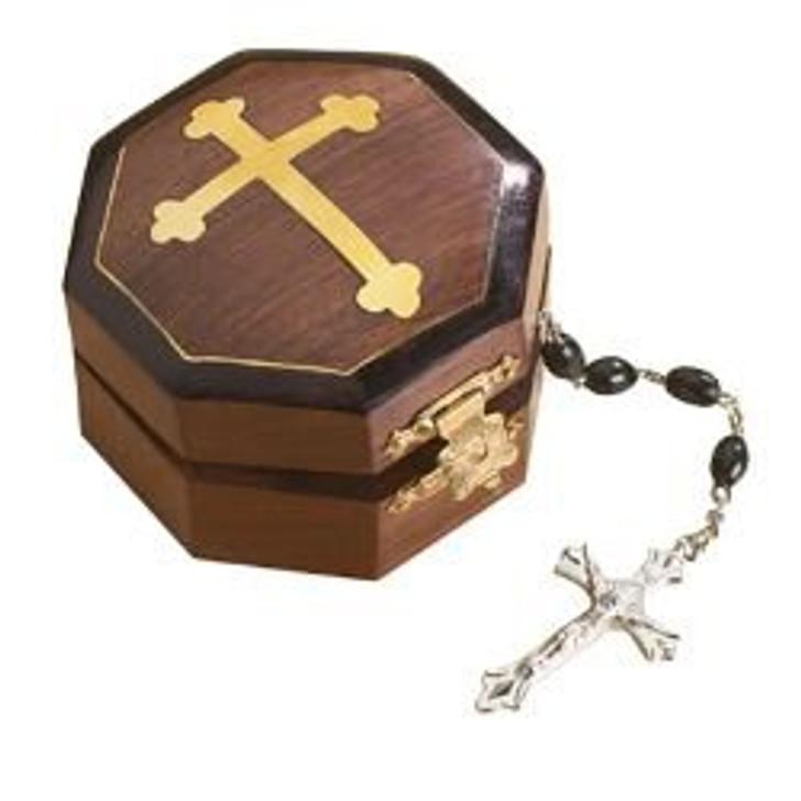 Budded Cross Rosary Box NC241