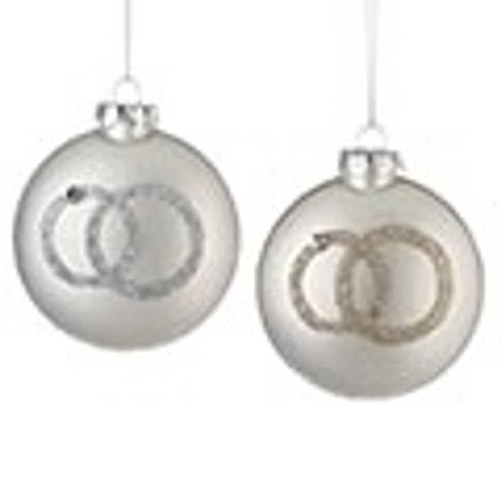 """4""""OUR 1ST XMAS TOGETHER ORN 2A SILVER/GOLD 130764"""