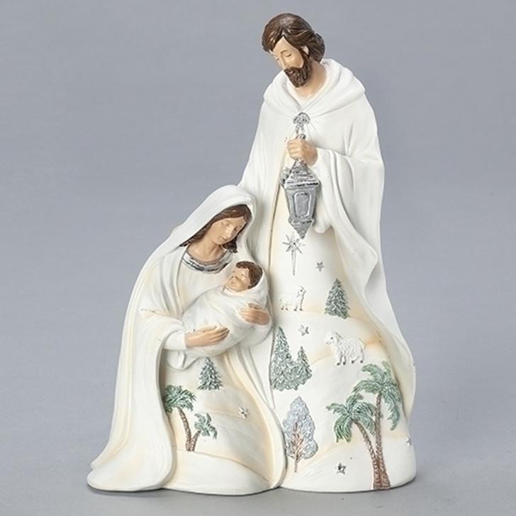 9.5 IN H HOLY FAMILY W-LANTERN 133904