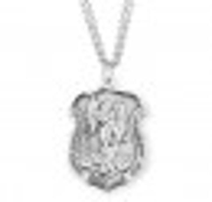 Saint Michael Sterling Silver Badge Medal S160624
