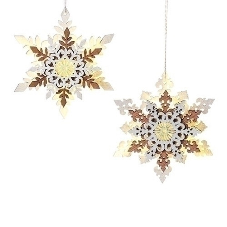 6 In LED SNOWFLAKE ORN 2A WHITE Set of 6 $34.99 30362