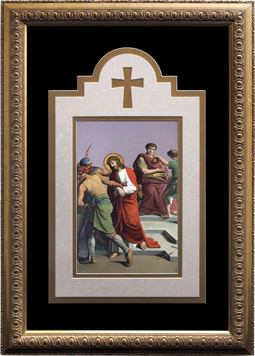 Deluxe Stations of the Cross matted and framed (Set of 14)