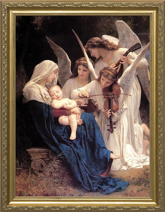 "Song of the Angels Gold Frame 24"" x36"""