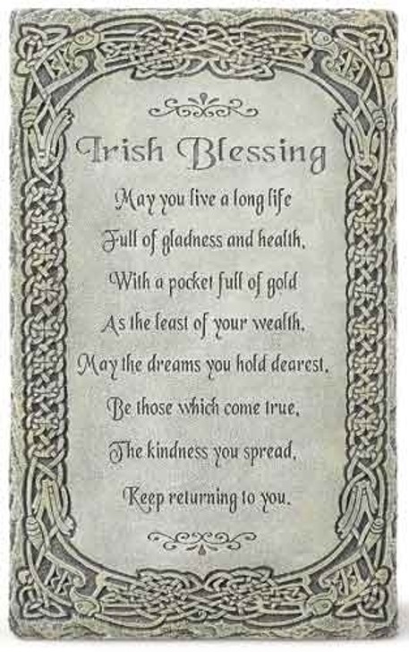 "8""H IRISH BLESSING WALL PLAQUE"