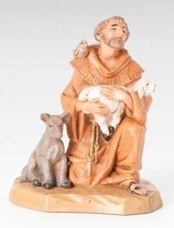 5 in st. francis nativity figure fontanini 65260 FS