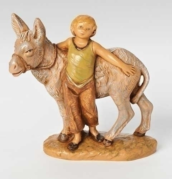 5 IN SCALE NISAN, BOY W-DONKEY 54064