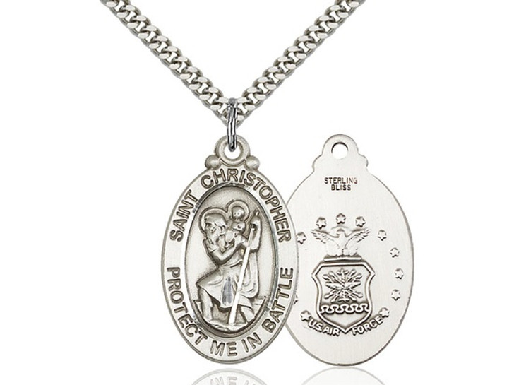 St. Christopher/Air Force Medal. 1175SS1_24S