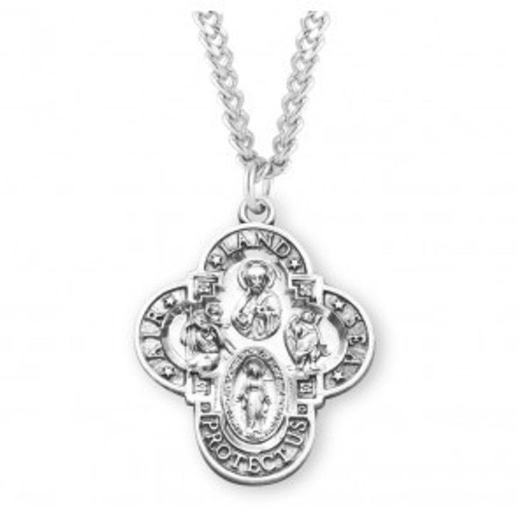 Land-Sea-Air Sterling Silver 4-way Medal S143924