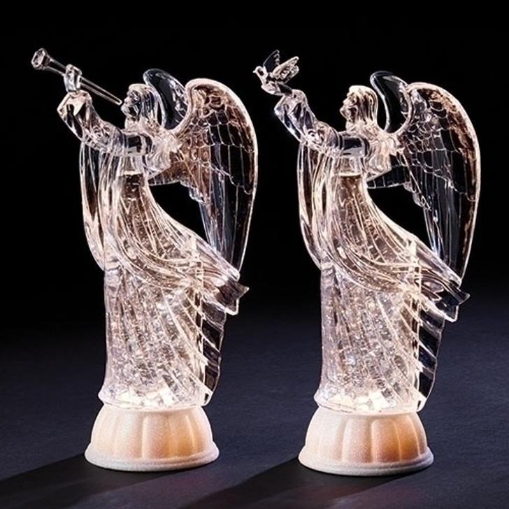 11.75 In SWIRL ANGEL 2ASST W-BIRD or HORN 132298