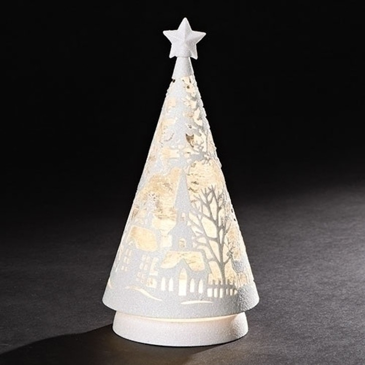10 In LED WHITE SCENE SWRLDM TREE 131402