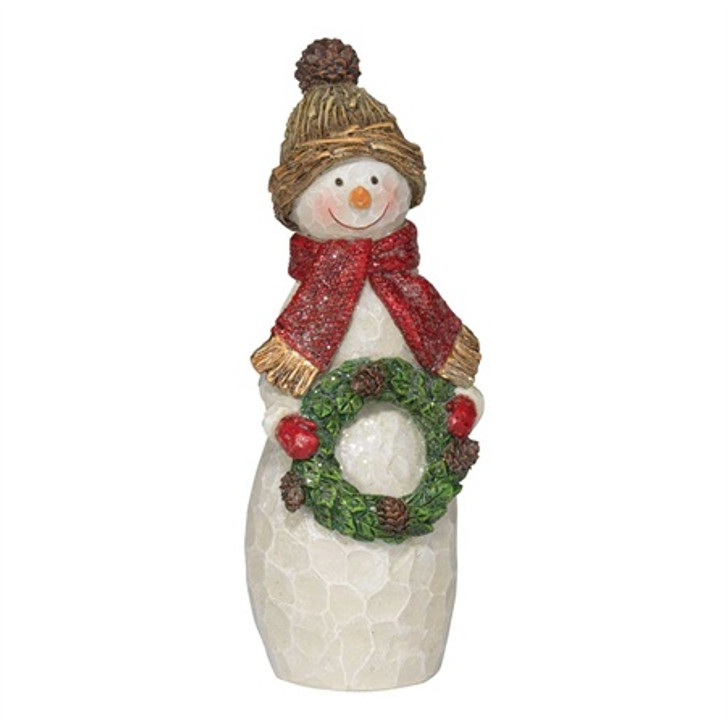 Snowman with wreath - 6 H CHFIG-220