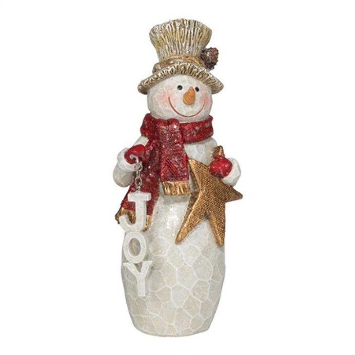 Snowman Figurine with JOY CHFIG-217