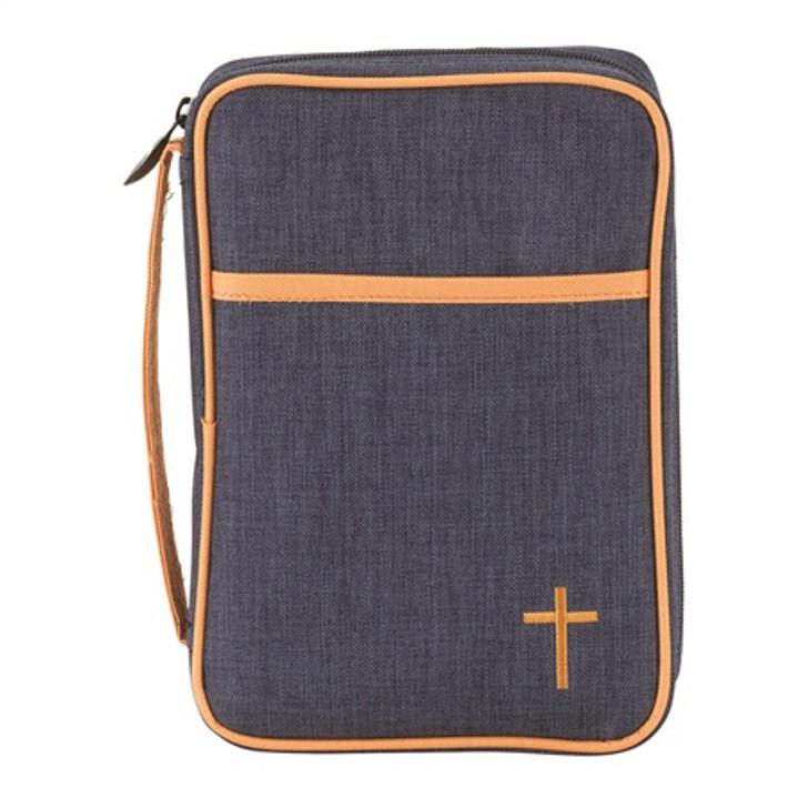 BIBL COV DENIM FINISHED CNVS MED BCK-802