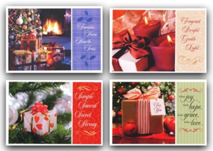 Pretty Packages ChristPretty Packages Christmas Cards, Box of 12mas Cards,