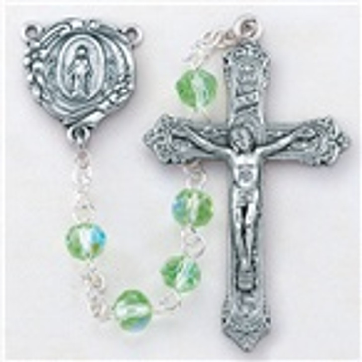 6MM CRYTALITE ROSARY 01116cl