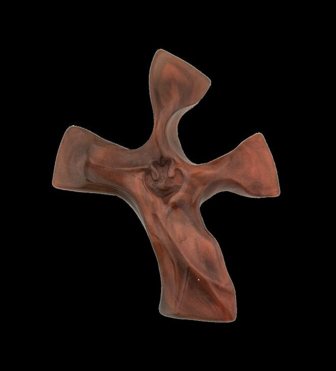 Dark Tortoise/ Copper (Shiny) Clinging Cross