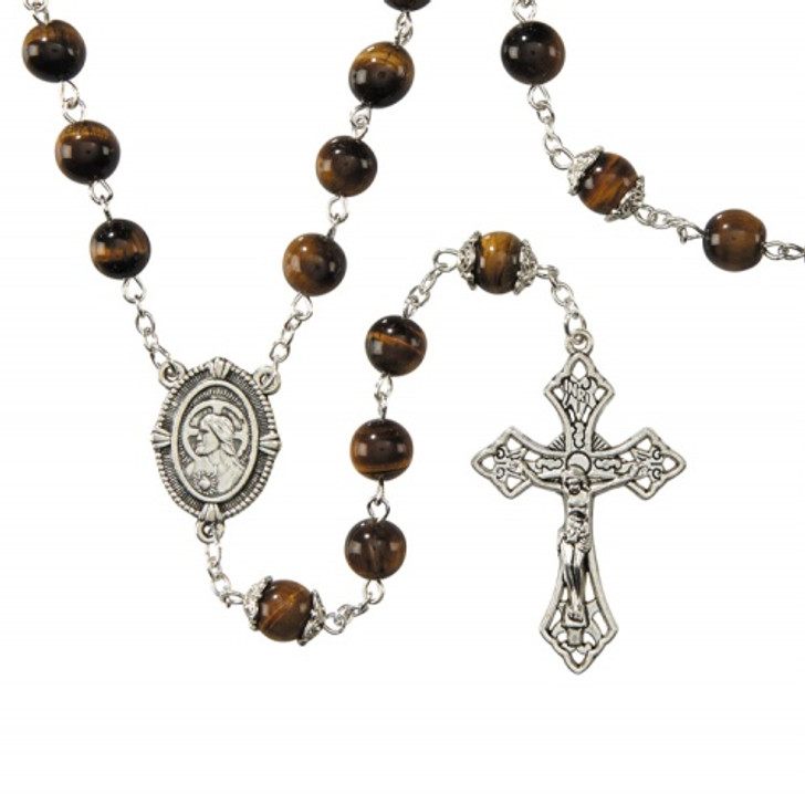 Tiger Eye Men's Rosary WC530