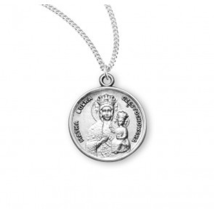 Our Lady of Czestochowa Round Sterling Silver Medal S356518