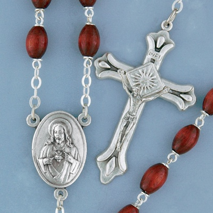 Oval Wood Rosary - 62750