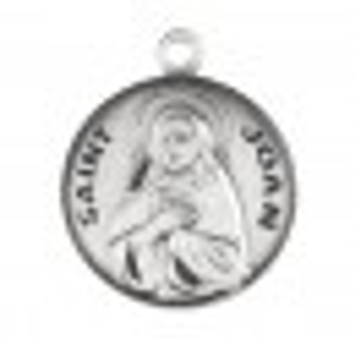 Patron Saint Joan Round Sterling Silver Medal S9747_1