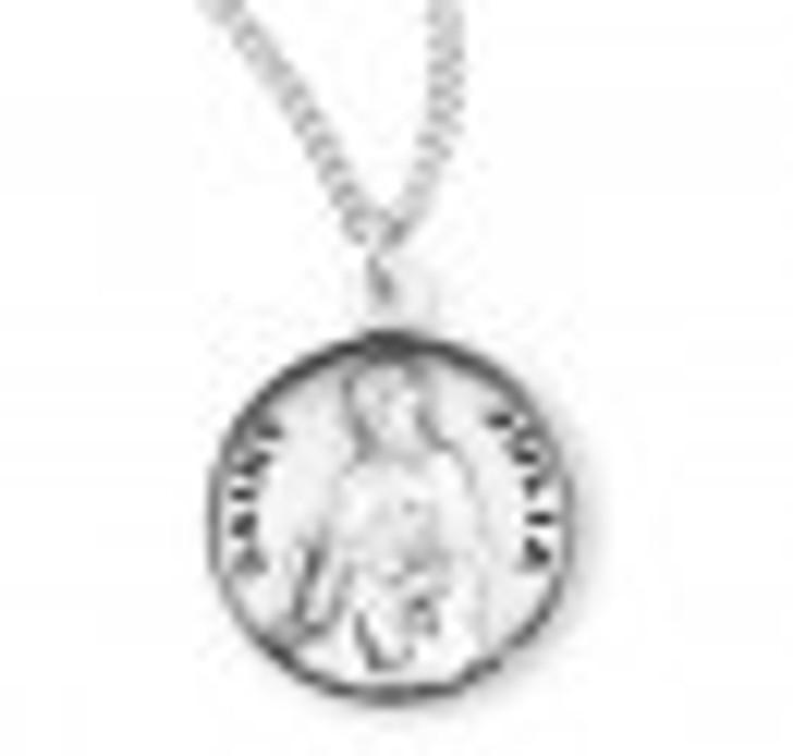 Patron Saint Julia Round Sterling Silver Medal S974818_1