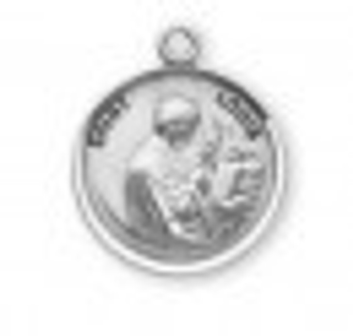 Patron Saint Louis Round Sterling Silver Medal S9608_1