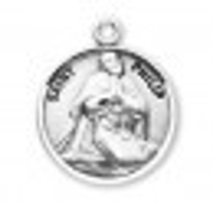 Patron Saint Philip Round Sterling Silver Medal S9631_1