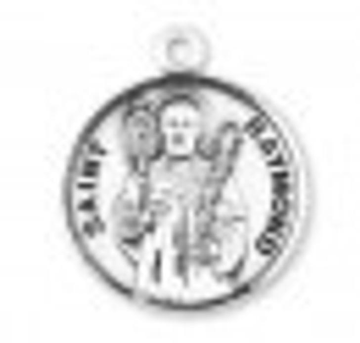 Patron Saint Raymond Round Sterling Silver Medal S9638_1