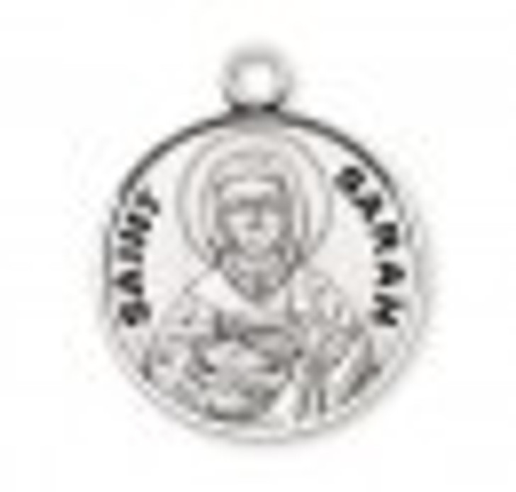 Patron Saint Sarah Round Sterling Silver Medal S9783_1