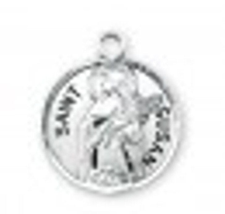 Patron Saint Susan Round Sterling Silver Medal S9787_1