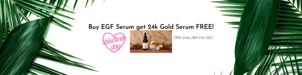 Valentine's day Special! Buy EGF Serum get 24k Gold Serum FREE!