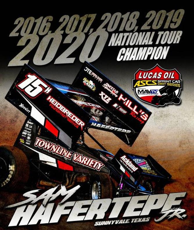 Sam Hafertepe Jr. Collects Unprecedented Fifth Consecutive ASCS Nation Sprint Tour Championship