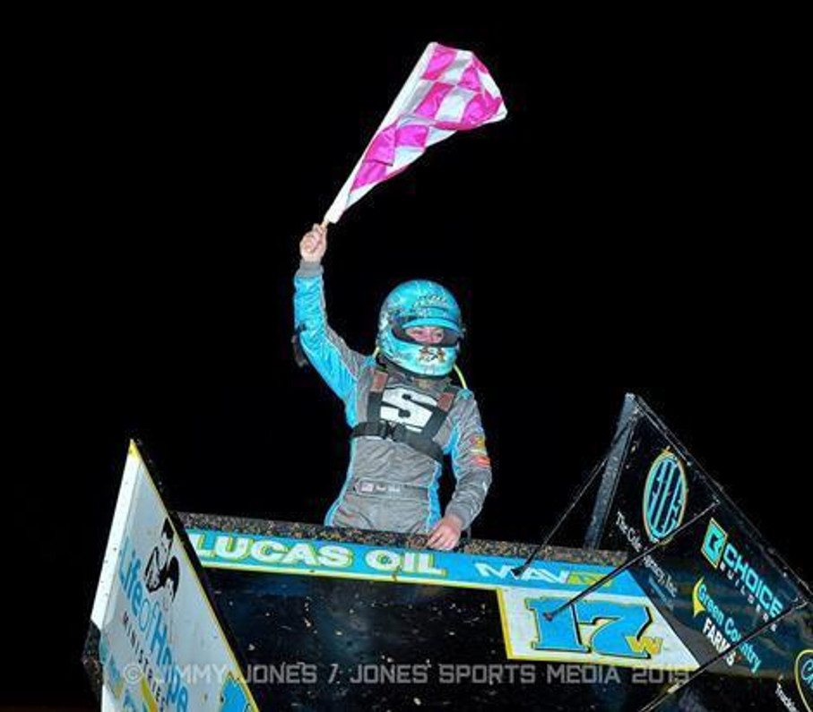 Harli White Earns First Career ASCS Win at I-30 Speedway