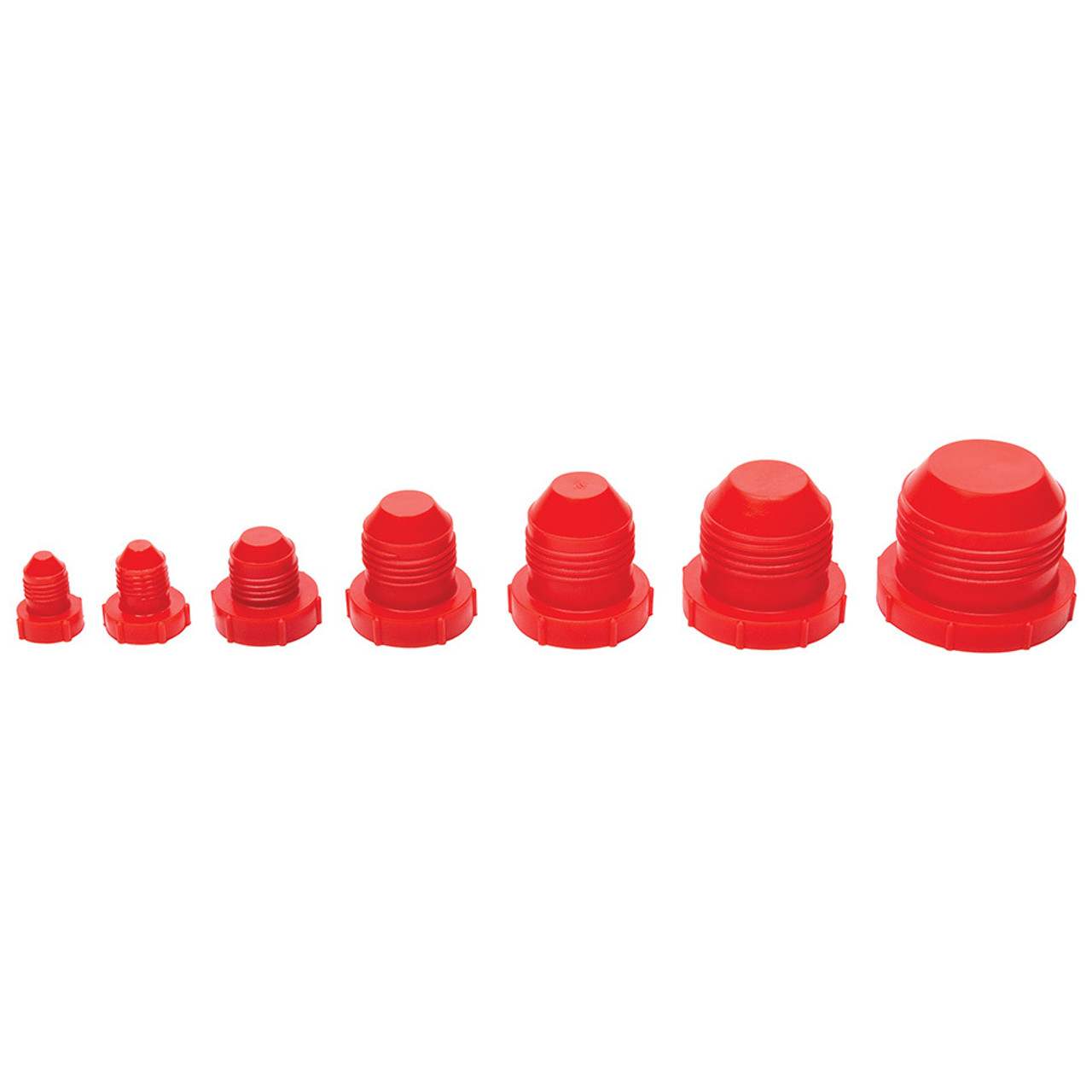 Allstar ALL50800 Red Plastic Fitting Cap Kit