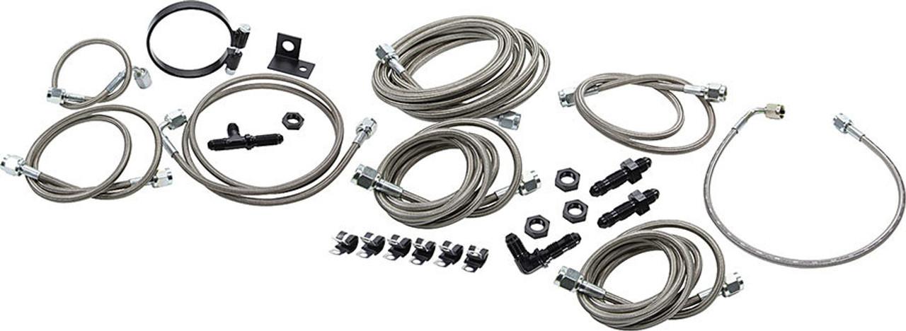 Allstar ALL42033 Stainless Steel Brake Hose Kit for GM Metric Brake Vehicles