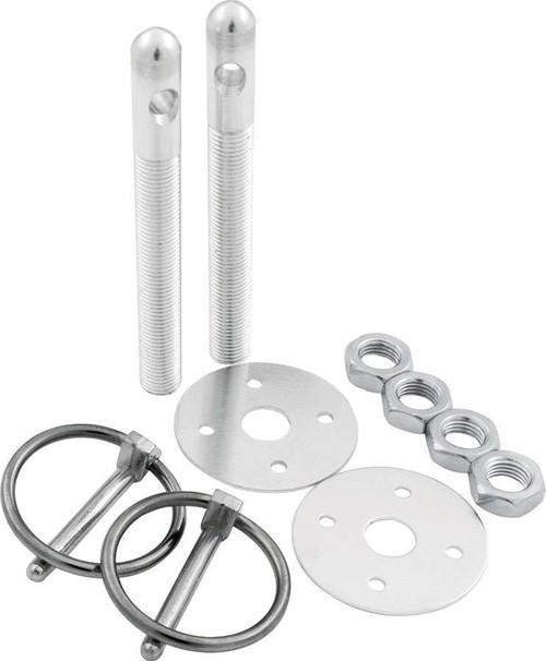 Aluminum Hood Pin Kit 3/8in Silver ALL18480 Allstar Performance