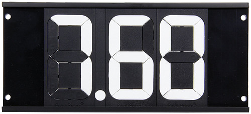 Dial-In Board 3 Digit w/ Mounting Holes ALL23291 Allstar Performance