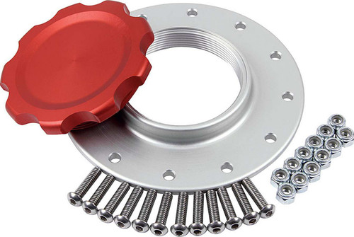 Fuel Cell Cap and Bung RCI/JAZ 12-bolt Red ALL40133 Allstar Performance
