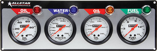 Allstar ALL80097 2-5//8 Diameter 140 to 280 Degree F Mechanical Oil Temperature Gauge with Allstar Logo