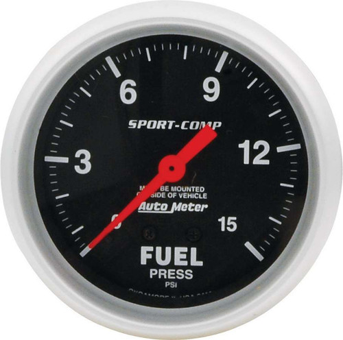 Repl ATM FP Gauge 15psi Sport Comp 2-5/8in ALL80134 Allstar Performance