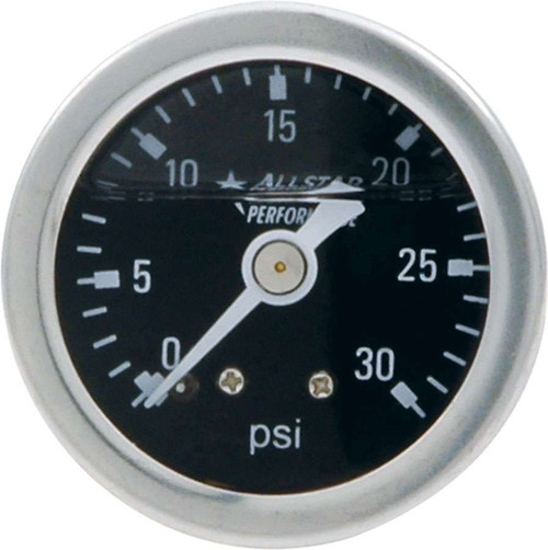 1.5in Gauge 0-30 PSI Liquid Filled ALL80202 Allstar Performance