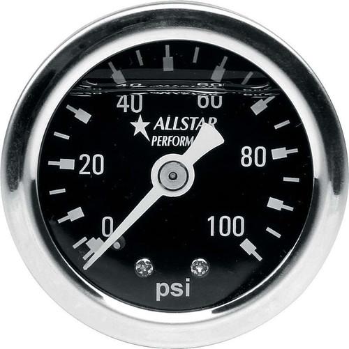 1.5in Gauge 0-100 PSI Liquid Filled ALL80206 Allstar Performance