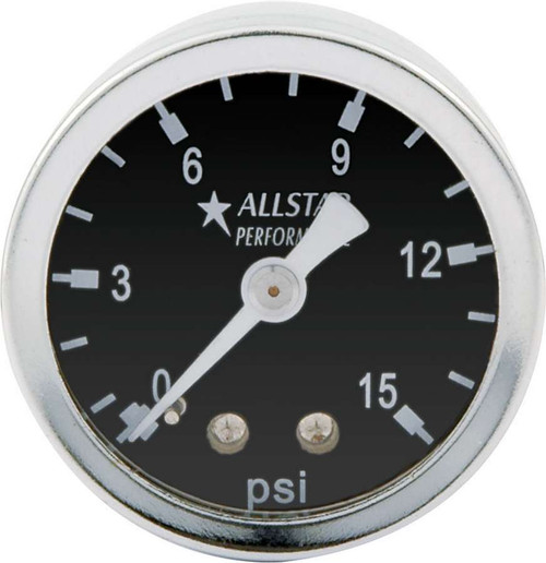 1.5in Gauge 0-15 PSI Dry Type ALL80210 Allstar Performance