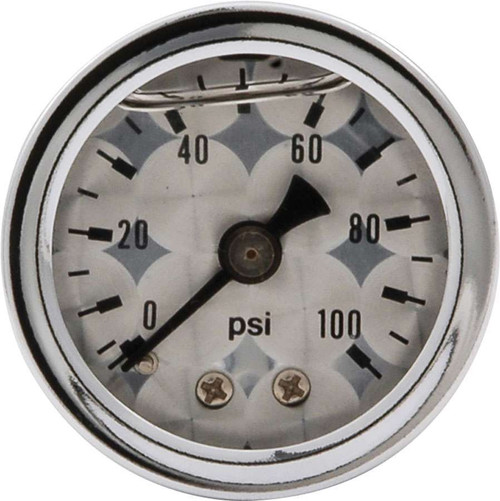 1.5in Gauge 0-100 PSI Turned Face Liq Filled ALL80226 Allstar Performance