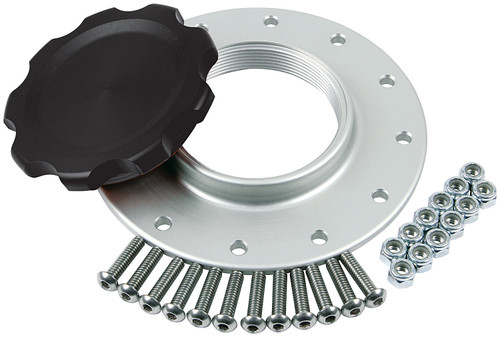 Fuel Cell Cap and Bung RCI/JAZ 12-Bolt Black ALL40136 Allstar Performance