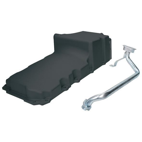 LS Oil Pan Cast Aluminum Black ALL26241 Allstar Performance