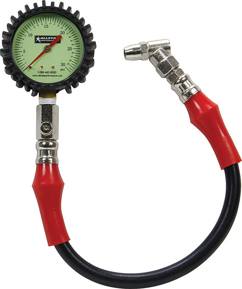 Tire Pressure Gauge 0-30 PSI 2-1/4in Glow ALL44057 Allstar Performance