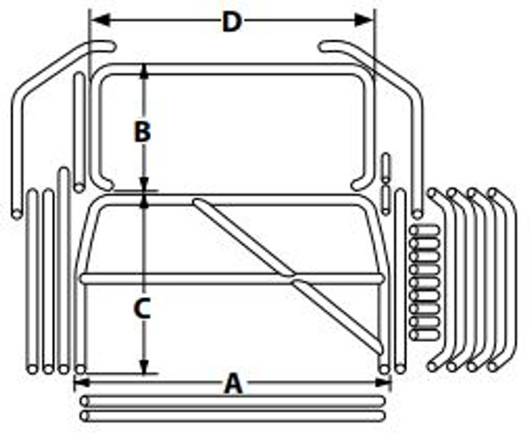 Roll Cage Kit Deluxe Full Size GM ALL22102 Allstar Performance