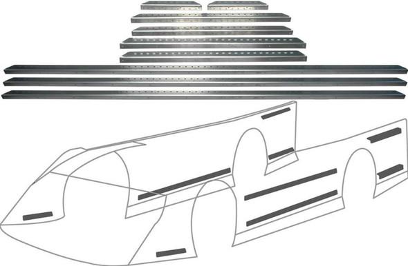 Late Model Aluminum Body Brace Kit ALL23105 Allstar Performance