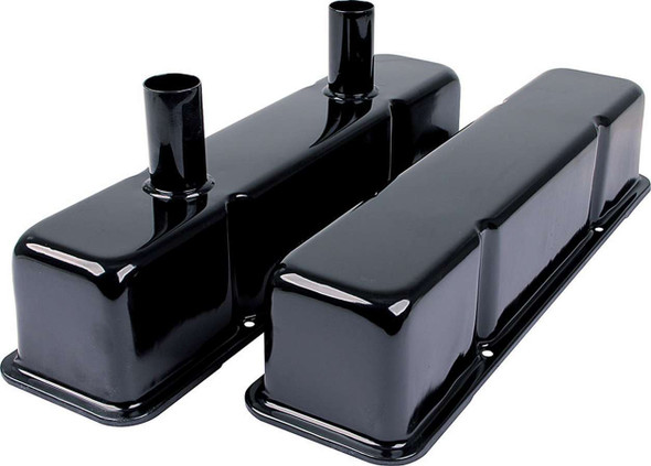 Valve Covers SBC Steel Black w/Tubes ALL26147 Allstar Performance